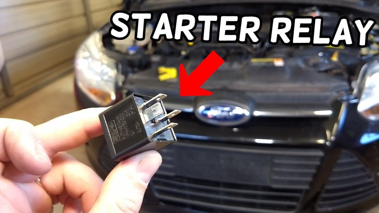 STARTER RELAY LOCATION AND REPLACEMENT FORD FOCUS MK3 20122018  YouTube