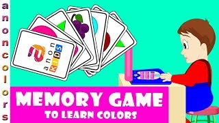 Learn Colors With Memory Match Challenge Game For children | Learning Games For kids and Toddlers