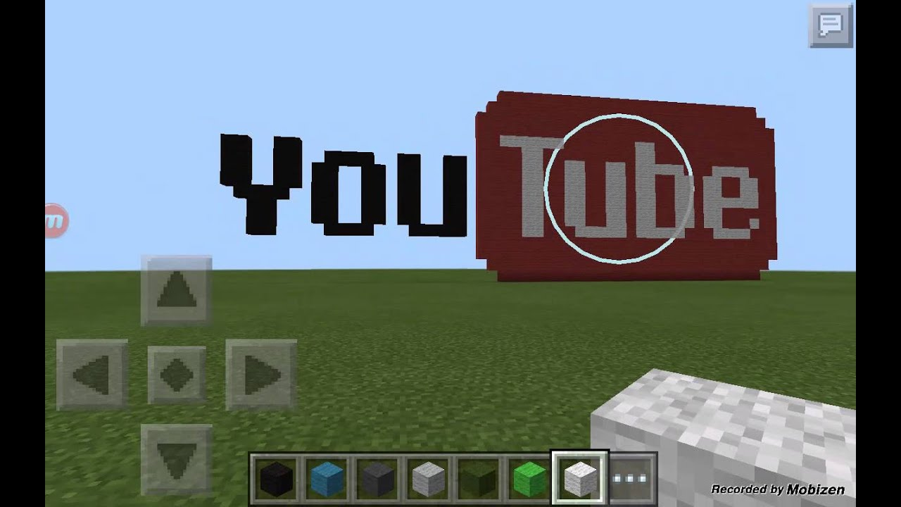 Minecraft Pixel Art Youtube Logo Youtube