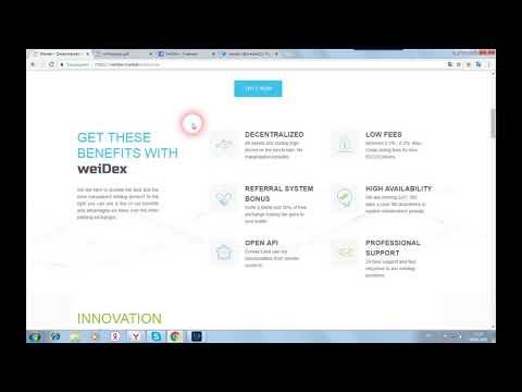 WeiDex - децентрализованный обмен, обеспечивающий безопасность