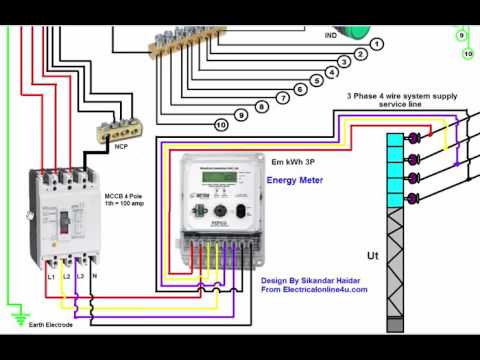 3 Phase Wiring Installation in House | 3 Phase Distribution