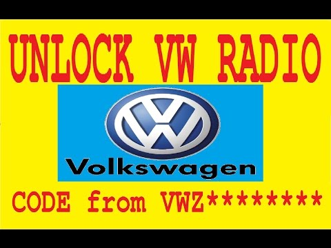 Unlock VW radio code generator,calculator by serial VWZ,Recovery PIN SAFE decode RNS510 310 300 315