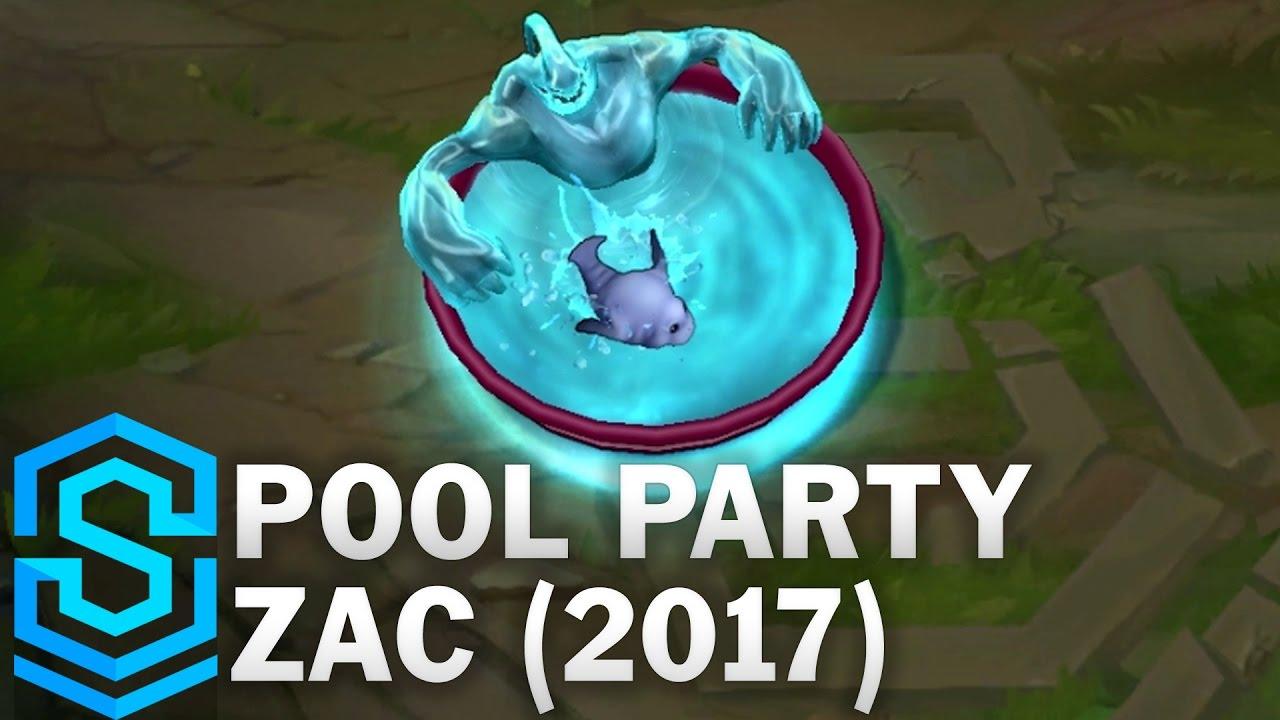 Pool Party Zac 2017 Skin Spotlight League Of Legends Youtube