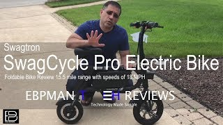 Review of Swagtron SwagCycle Pro Electric Bike Review.  Love at first Ride!