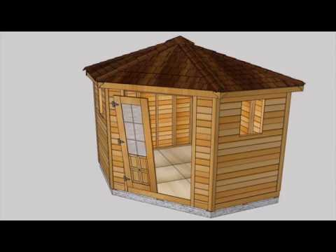 Cedar Shed Kit - 9x9 Penthouse Garden Assembly Video | Outdoor Living Today