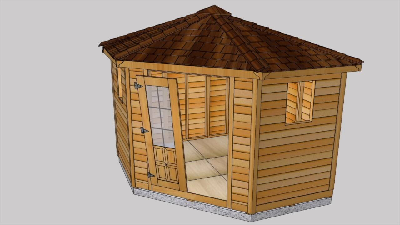 Cedar Shed Kit   9x9 Penthouse Garden Assembly Video | Outdoor Living Today