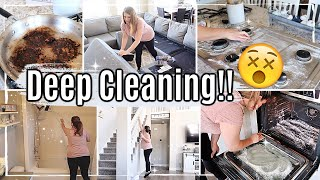 *SATISFYING* DEEP CLEAN WITH ME 2019 :: FALL SPEED CLEANING MOTIVATION :: SAHM DEEP CLEANING ROUTINE