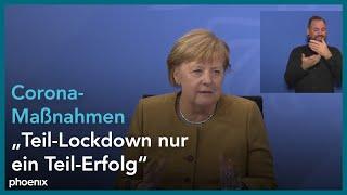 Nach den beratungen mit ministerpräsidenten und ministerpräsidentinnen informieren kanzlerin angela #merkel, berlins regierender bürgermeister michael mü...