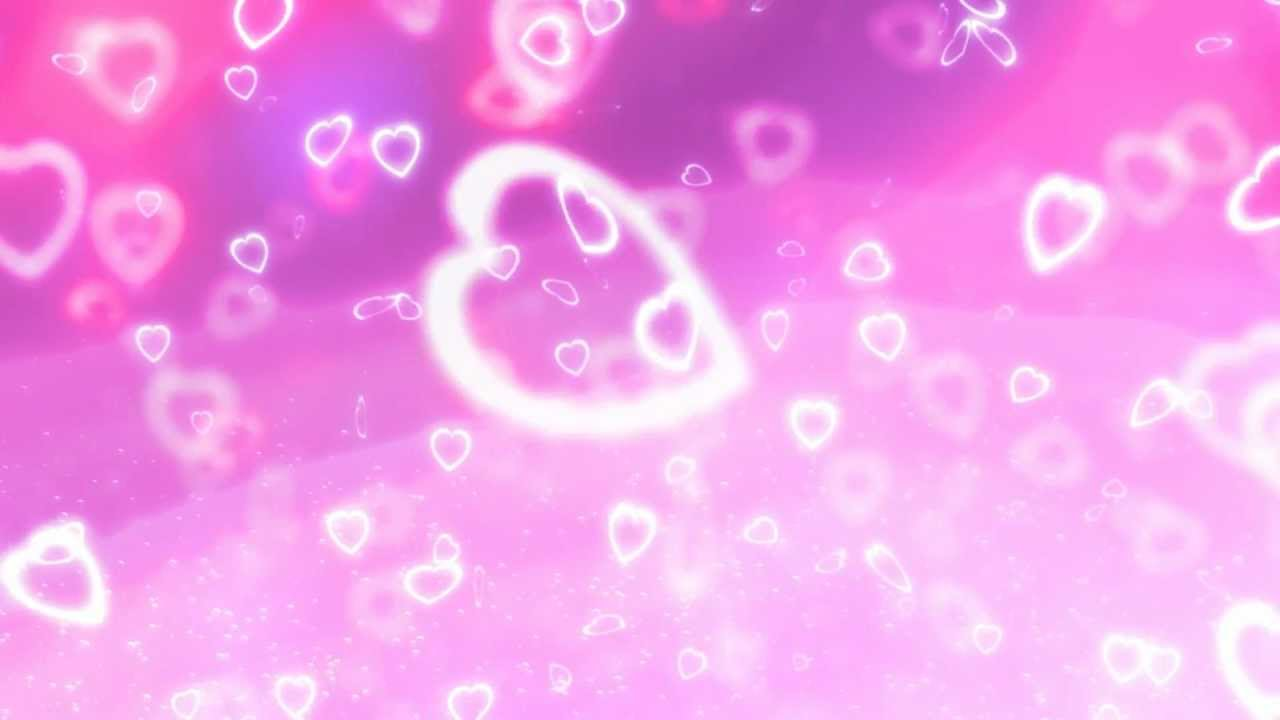 Cute Pinkish Wallpapers Purple And Pink Heart Bokeh Background Video Clip Motion