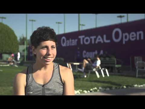 Carla Suarez Navarro   2016 Qatar Total Open Pre-Tournament Interview