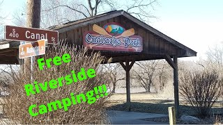Free Riverside Camping at Ouabache Park - Attica, Indiana
