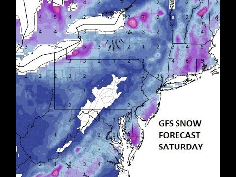 WEATHER MODELS GROW AGGRESSIVE WITH SNOW FOR THE NORTHEAST & PARTS OF THE MID ATLANTIC SATURDAY
