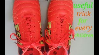 Tie A Shoelace In 2 Seconds|Easy Way To Tie ShoeLaces|HowToTie Shoelaces|Sahana