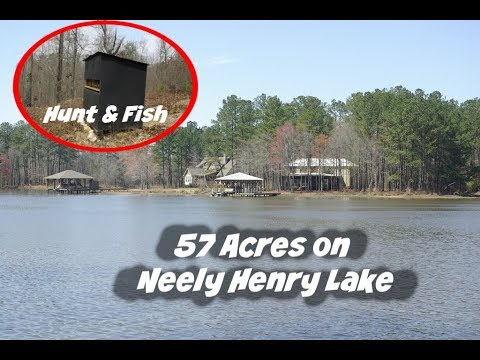 57 Acres Neely Henry Lake Waterfront Alabama Land For Sale