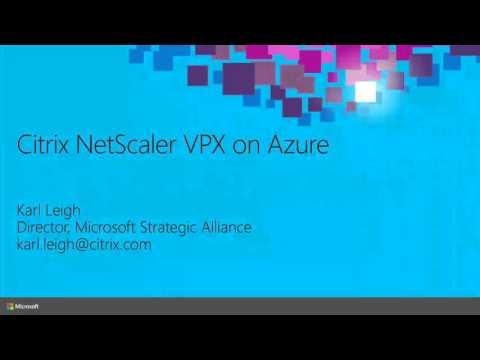 Microsoft Ignite 2015 Understanding Network Virtual Appliances