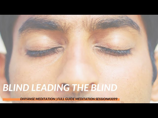 Blind Leading the Blind | Full Guided Meditation by Dhyanse | Session #3099
