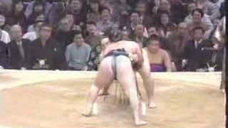 sumo hakuho beats asashoryu