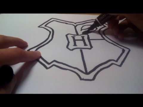 Рисую герб хогвартса