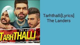 LYRICS TARTHALLI || The Landers - Tarhthalli | Meet Sehra | Official Music Video
