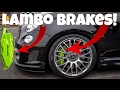 Modified 500 Abarth 595 - My Lamborghini Custom Brembo Calipers / Brakes