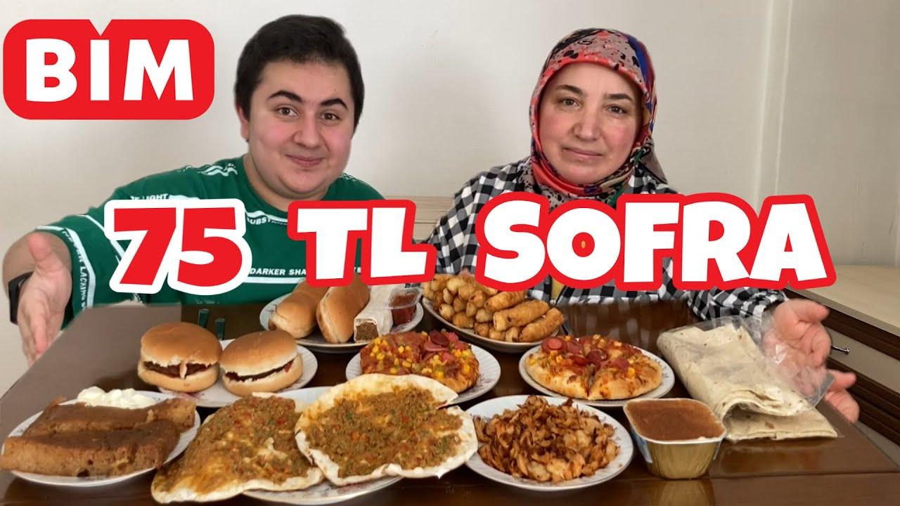 75 TL'YE BİM'DEN SOFRA KURDUK ! - PADİŞAH SOFRASI