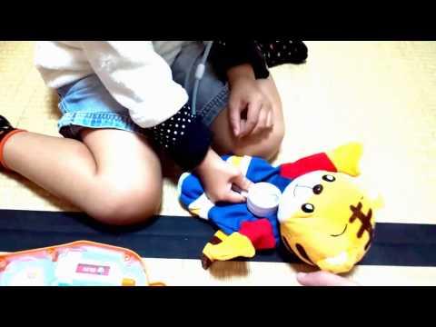 Shimajiro Oishasan Set★しまじろう おもちゃ おいしゃさんセット がたのしい!
