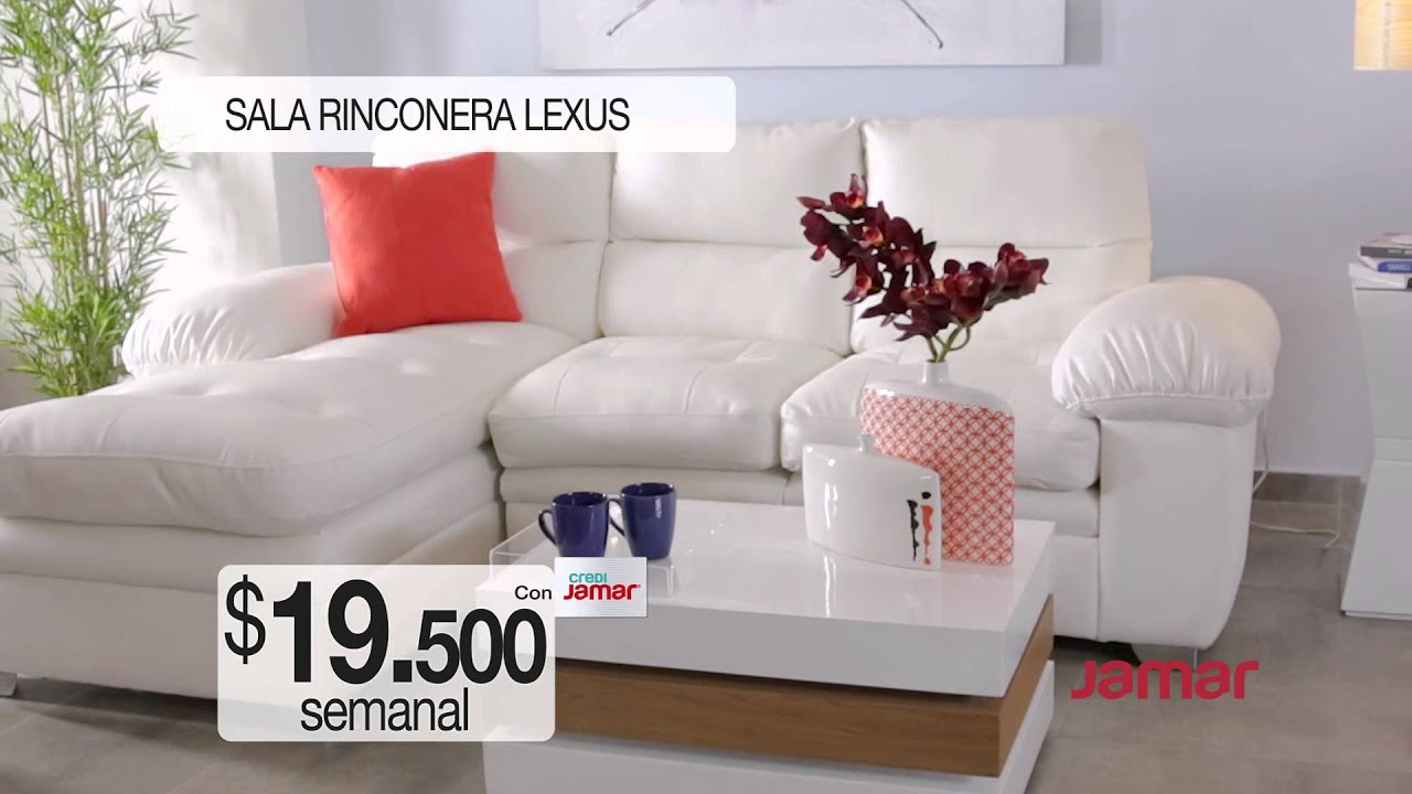 Comercial muebles jamar sala rinconera lexus youtube for Muebles namar