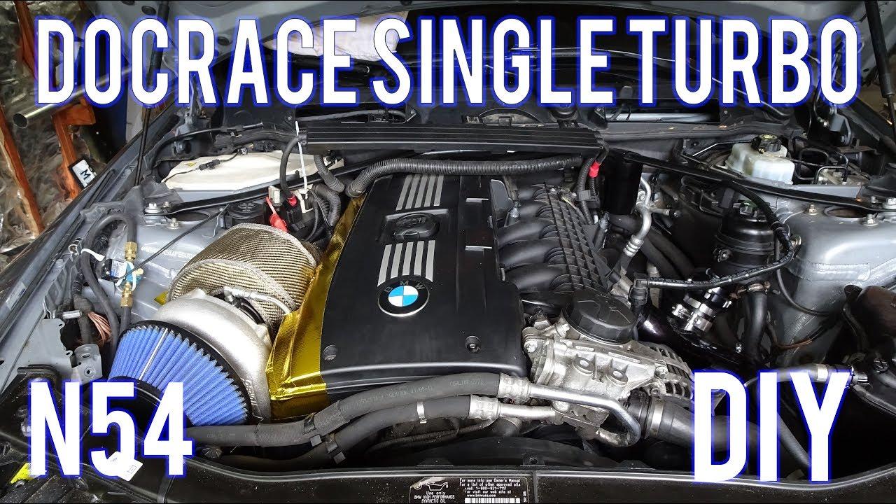 bmw 335i single turbo install diy  [ 1280 x 720 Pixel ]