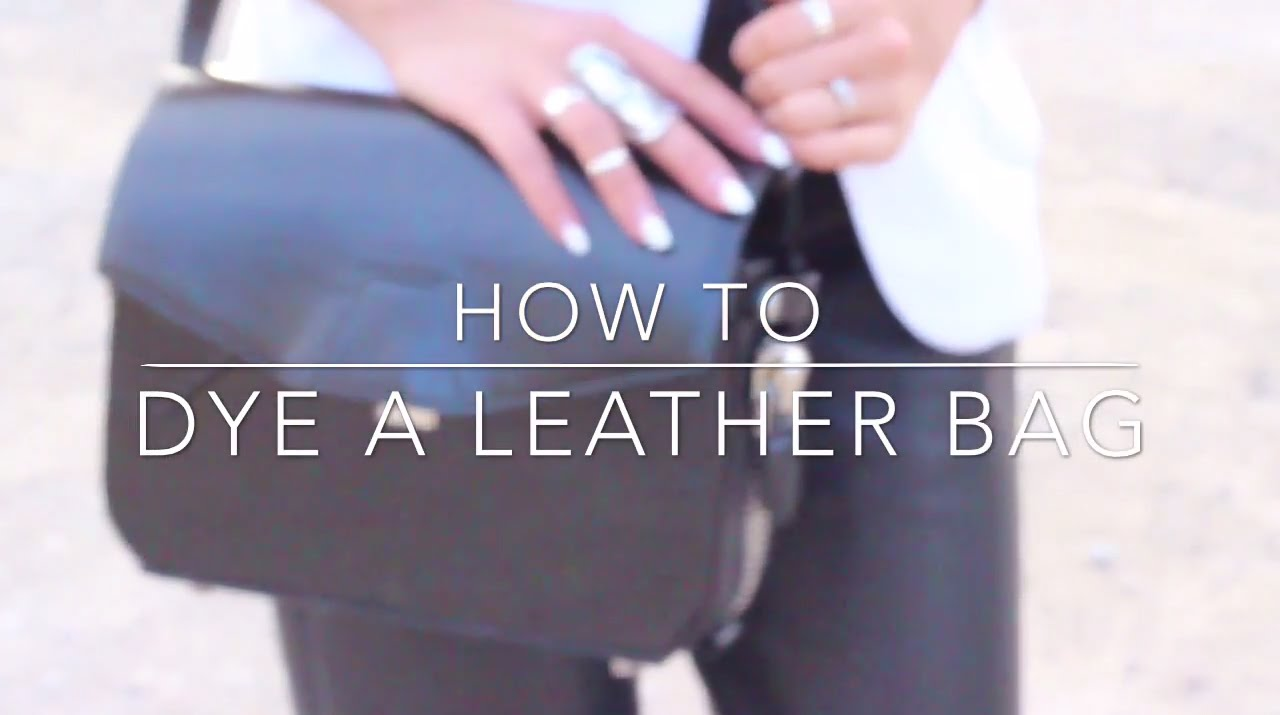 8646cf3f27c3 How to Dye a Leather Bag - Alexander Wang Trifold - YouTube