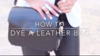 How to Dye a Leather Bag - Alexander Wang Trifold