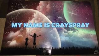Spray Paint Art 2017: Rick and Morty