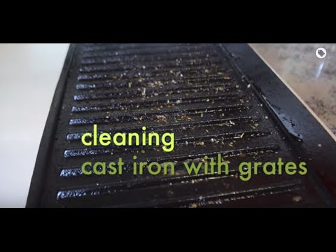 Quick Tip: Cleaning Cast Iron with Grates