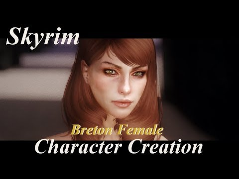 Skyrim Character Creation Let's create a realistic female character easily  【Breton Female】