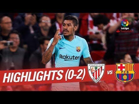 Resumen de Athletic Club vs FC Barcelona (0-2)