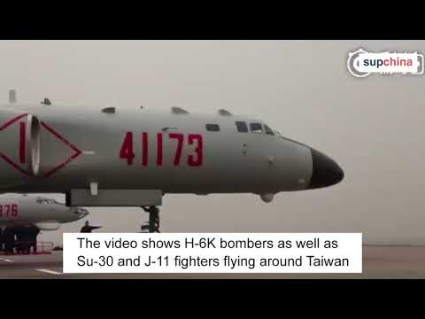 Chinese air force releases a propaganda film in Hokkien