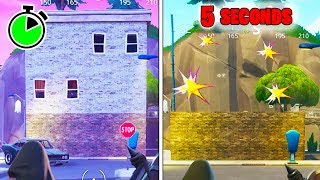 (FORTNITE) HOW TO DESTROY A BUILDING IN UNDER 5 SECONDS! *NEW* FORTNITE DESTROY BUILDINGS GLITCH!
