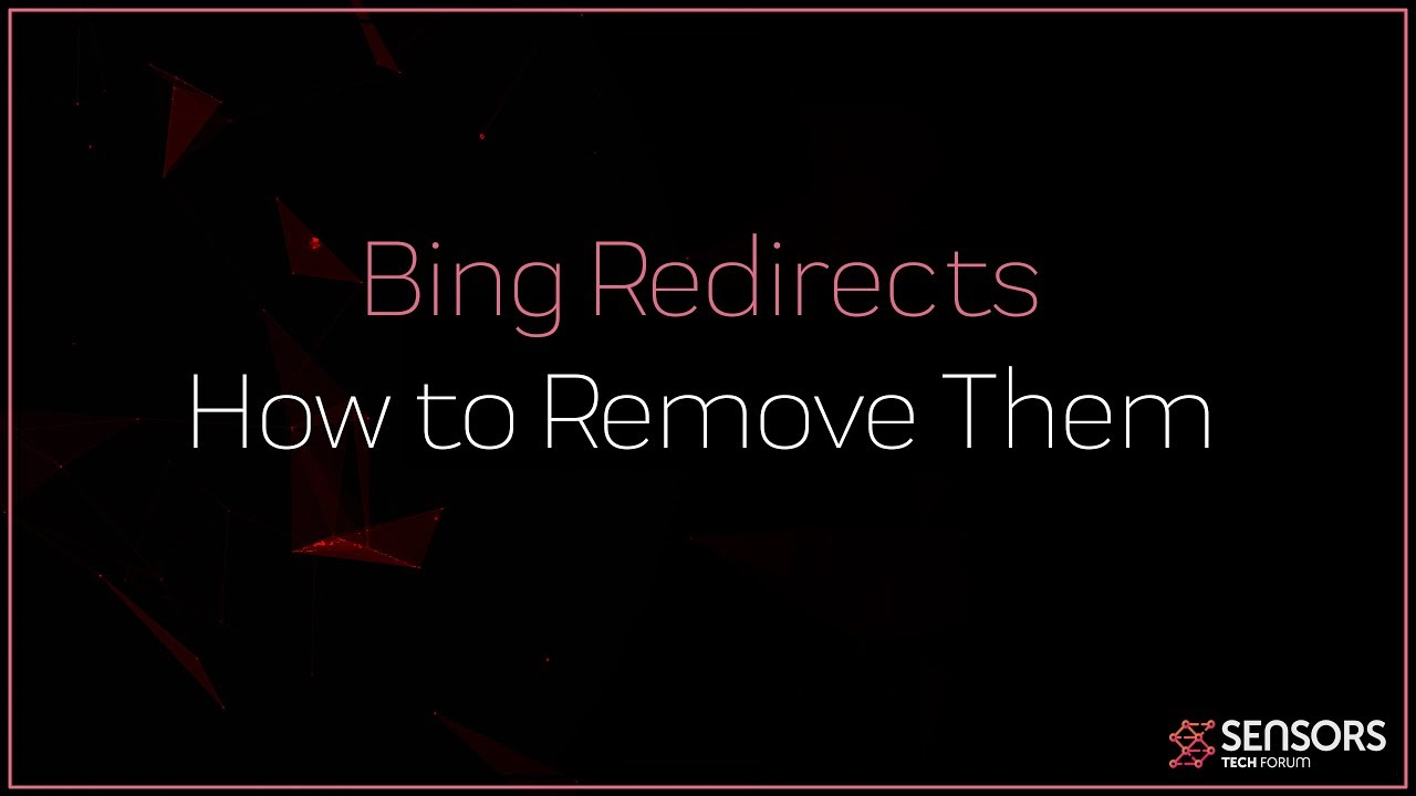 How to Remove Bing Redirect