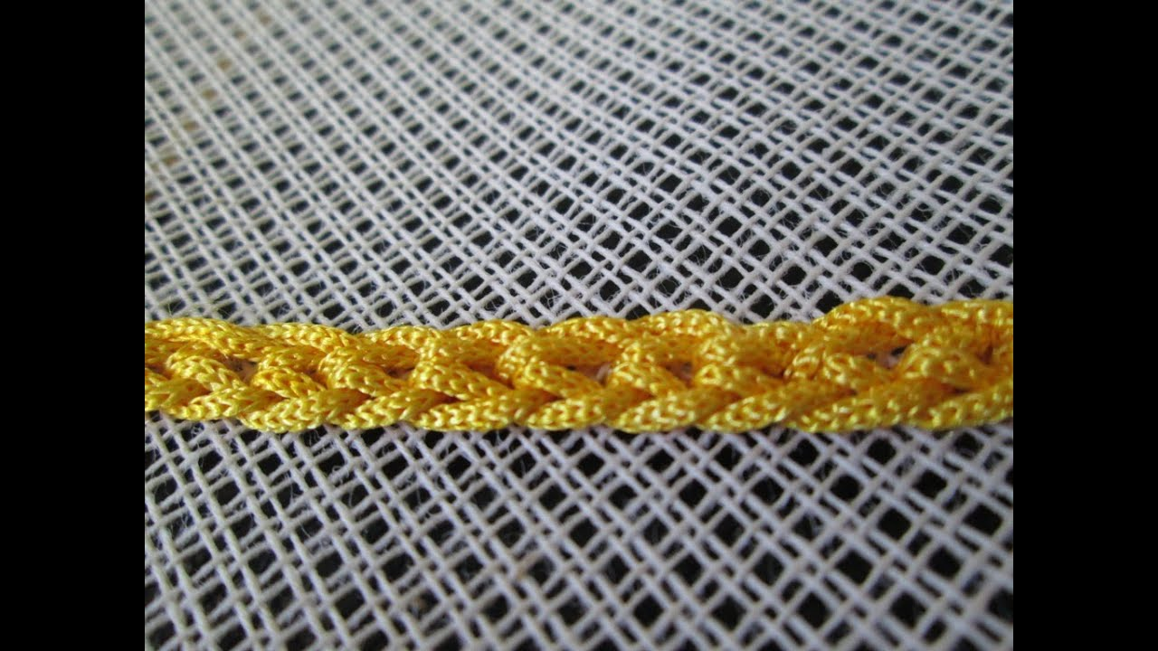 Braided Chain Stitch  Type Of Chain Stitch In Embroidery