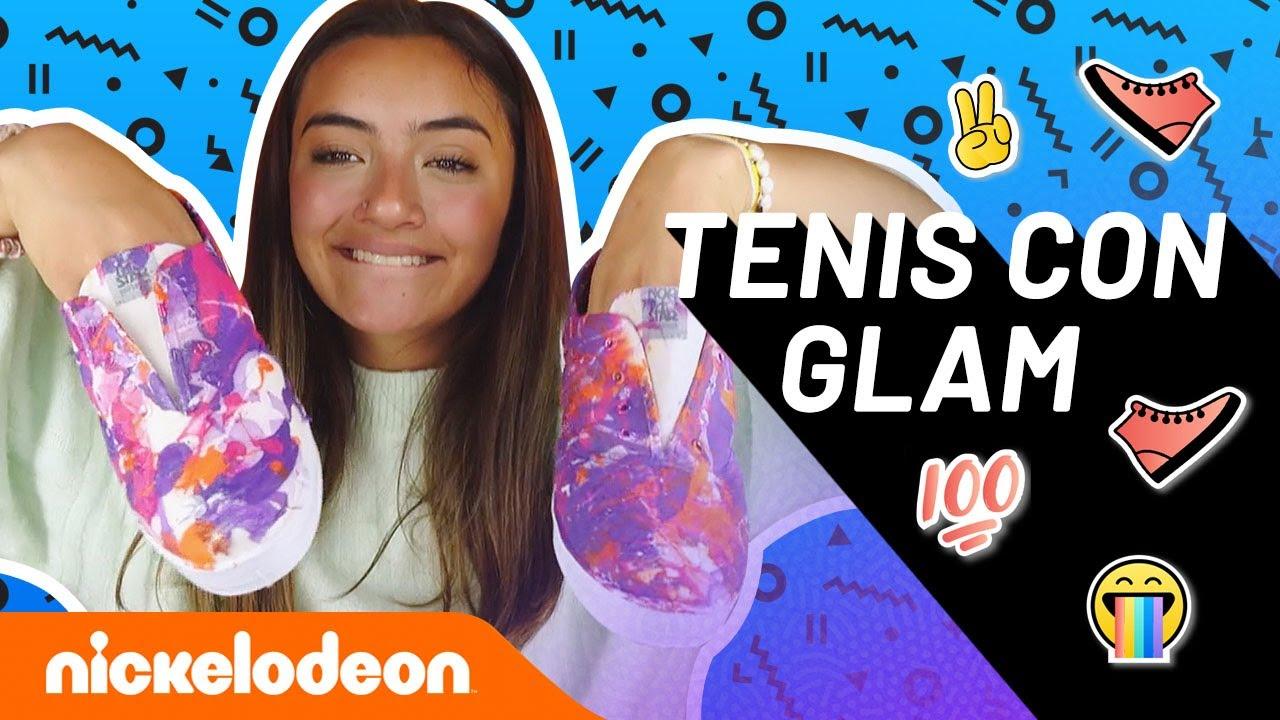 Challenge: tenis con mucho glam 👟   Make Me Glam   Nickelodeon en Español