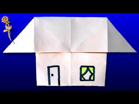 origami facile maison youtube. Black Bedroom Furniture Sets. Home Design Ideas