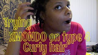TRYING XMONDO BY BRAD MONDO ON MY TYPE 4 CURLY HAIR || Gabby Louise