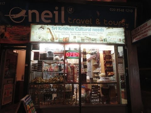 Indian Shops' & Restaurants' at night in East Ham, London (photos' only) 12/12/12