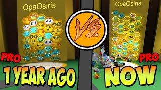 1 year ago VS now! - 🐝Bee Swarm Simulator Roblox