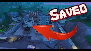 FORTNITE - SAVING THE NEW BUILDING IN TILTED TOWERS FROM DESTRUCTION - FINAL EARTHQUAKE