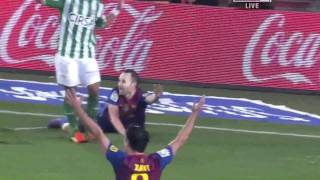 FC Barcelona - Real Betis (4-2) All Goals & Full Match Highlights (15.01.2012) HD