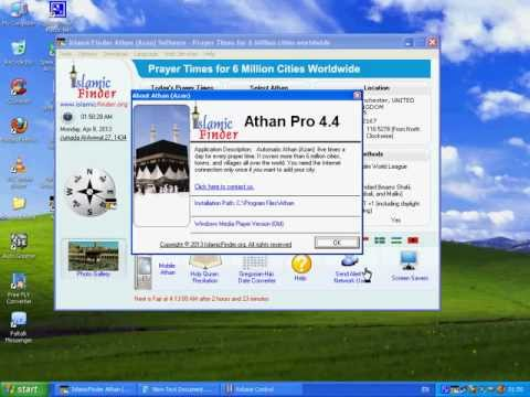 Download Athan (Azan) Software 4.4 for over 6 Million cities Prayer Times