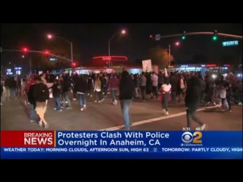 Anaheim Protest Turns Violent