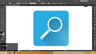 Icon design in illustrator with flat shadow