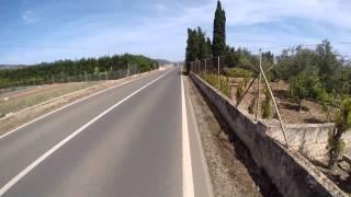 Ironman 70.3 Mallorca 2014 bike route, 500% speed, Part 3/3