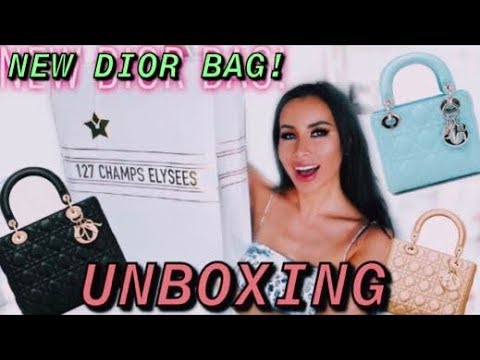 LADY DIOR BAG UNBOXING | BUYING IN PARIS | REVIEW